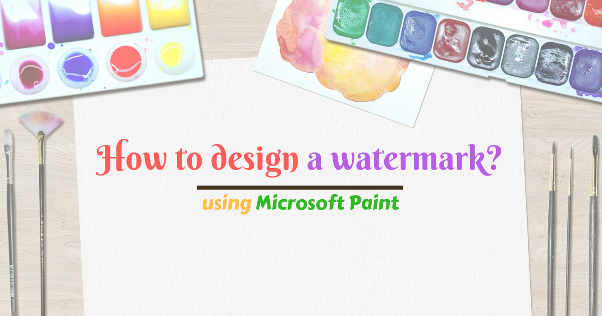 How to design a watermark