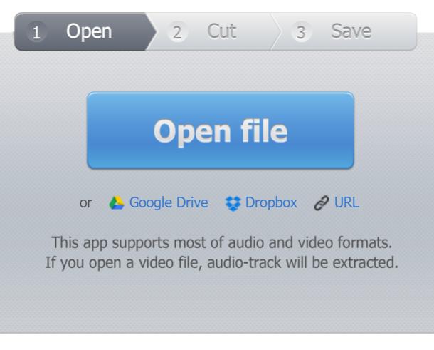 mp3cut - open file window