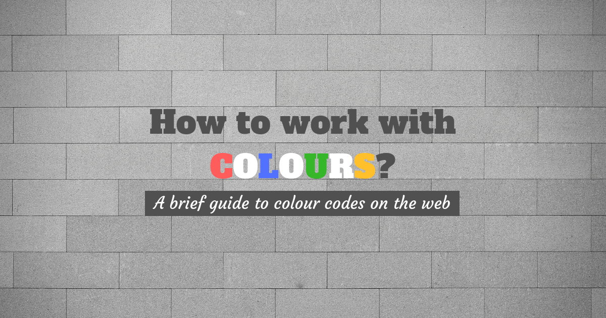 Guide to colour codes on the web