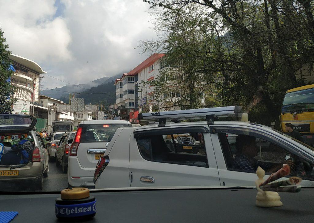 Traffic in Gangtok