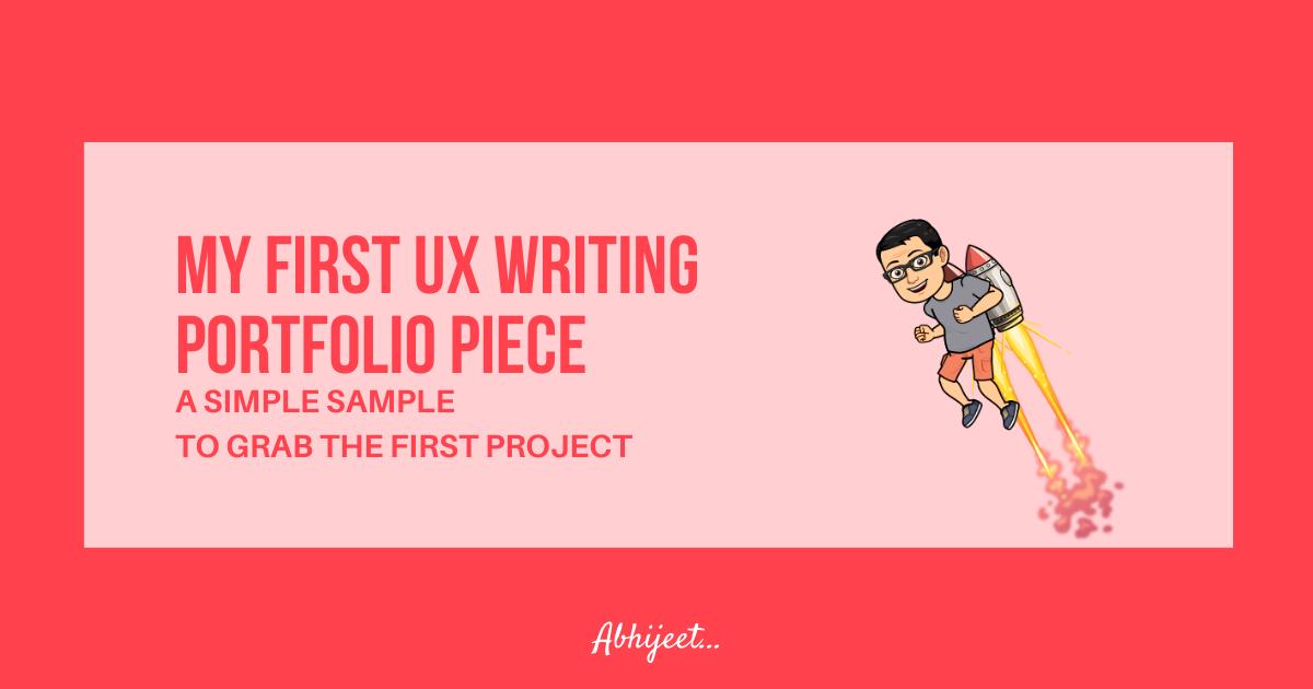 My first UX Writing portfolio piece